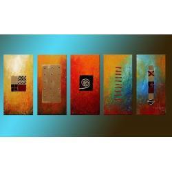 """obrazy nowoczesne """"fantasy colours"""" 5 niezależnych obrazy nowoczesneów Akryl"""