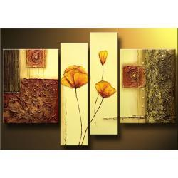 """""""strukturalne kwiaty""""obrazy nowoczesne strukturalny ręcznie malowany na płótnie Akryl"""