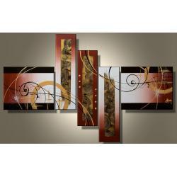 NOWOCZESNE OBRAZY 5 elementów modern design ręcznie malowany wielka wakacyjna promocja ! Akryl