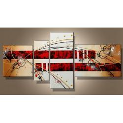 """""""czerwona namiętność"""" modernistyczny, ręcznie malowany obrazy nowoczesne na płótnie, złota struktura Akryl"""