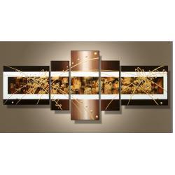 """""""golden wenge"""" modernistyczny, ręcznie malowany obrazy nowoczesne , złota struktura Akryl"""