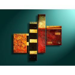 """abstrakcyjna myśl"" obrazy nowoczesne strukturalny na płótnie Akryl"