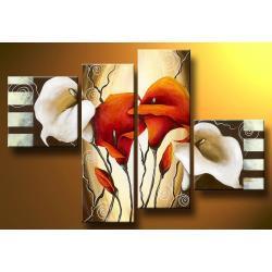 """""""eleganckie kalie"""" obrazy nowoczesne ręcznie malowany na płótnie Akryl"""