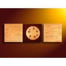 """""""nastrojowe liście"""" obrazy nowoczesne strukturalny 3 elementy Akryl"""