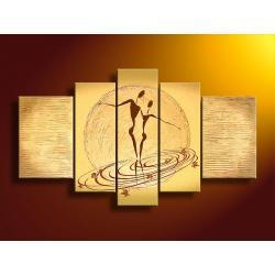 """gold love"" obrazy nowoczesne strukturalny  Akryl"