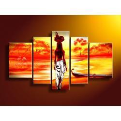 """""""paradise sunset"""" ręcznie malowany, idealny na prezent Akryl"""