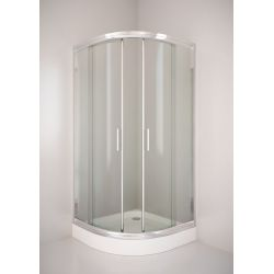 Kabina prysznicowa półokrągła SIGMA 80 chrom, szkło transparentne Kabiny i brodziki