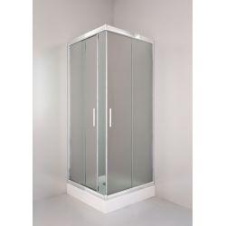 Kabina prysznicowa kwadratowa SIGMA 80 chrom, szkło chinchila Kabiny i brodziki