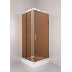 Kabina prysznicowa kwadratowa SIGMA 90 chrom, szkło brąz Kabiny i brodziki