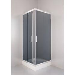 Kabina prysznicowa kwadratowa SIGMA 80 chrom, grafit Kabiny i brodziki