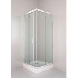 Kabina prysznicowa kwadratowa SIGMA 80 chrom, szkło transparentne Kabiny i brodziki