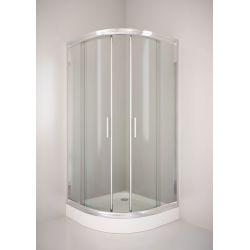 Kabina prysznicowa półokrągła SIGMA 90 chrom, szkło transparentne Kabiny i brodziki