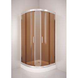 Kabina prysznicowa półokrągła SIGMA 90 chrom, szkło brąz Kabiny i brodziki
