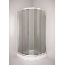Kabina prysznicowa półokrągła SIGMA 90 chrom, szkło wzór chinchila Kabiny i brodziki