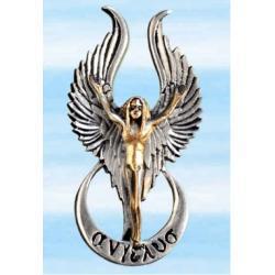 Anioł siły, miłości, szczęścia, zadowolenia - srebro 925 i 18 karatowe złoto