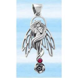 Anioł Elfów - ochrona przed złą energią i czarną magią - srebro 925