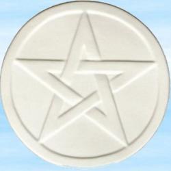 Biały pentagram  - na ołtarzyk magiczny lub w celach ochronnych