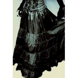 Spódnica do praktyk magicznych  rozmiar: uniwersalny - czarna