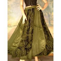 Spódnica do praktyk magicznych  rozmiar: uniwersalny (36 - 40/42) - zielona, bordo lub ruda