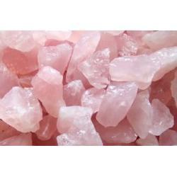 KWARC różowy - szczęście w miłości - 500g w formie naturalnej czystej skalki