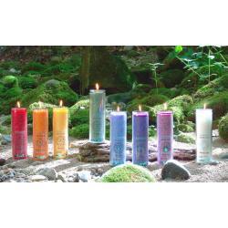 świeca zielona - magiczna energetyczna - energetyzuje i leczy 4 czakrę - 100 % naturalnych olejków