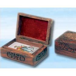 Pudełeczko na karty Tarota 125 x 73 x 40  - z masywnego drewna wykonane ręcznie