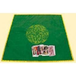 Obrus Celtycki Labirent do rozkładania kart, rytuałów i zaklęć magicznych, na ołtarze - 80x80 cm