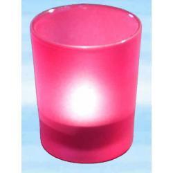 Szklana ochrona na świece rytualne na ołtarze do rytuałów - kolor czerwony