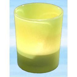 Szklana ochrona na świece rytualne na ołtarze do rytuałów - kolor żółty