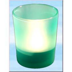 Szklana ochrona na świece rytualne na ołtarze do rytuałów - kolor zielony
