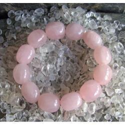 Bransoletka kwarc różowy - 100% naturalna -  tylko 1 sztuka - piękna, magiczna i naenergetyzowana