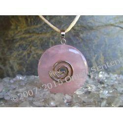 Talizman miłości, aktywujacy miłość - Wisior Kwarc różowy, celtycka spirala magiczna  - 100% naturalny