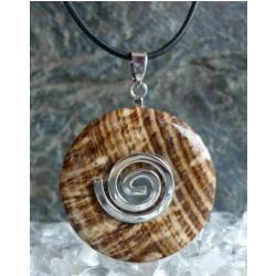 Wisior Talizman Aragonit, celtycka spirala magiczna  - 100% naturalny -  tylko 1 sztuka - piękna, magiczna i naenergetyzowana
