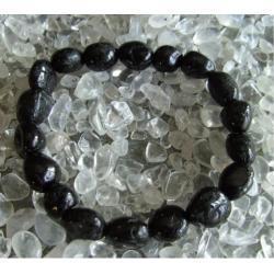Bransoletka Czarny turmalin Schörl - 100% naturalna -  tylko 1 sztuka - piękna, magiczna i naenergetyzowana
