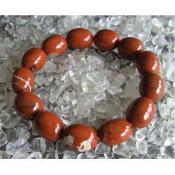 Bransoletka Jaspis czerwony - 100% naturalna -  piękna, magiczna i naenergetyzowana