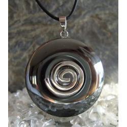 Wisior Talizman Hematyt, celtycka spirala magiczna  - 100% naturalny -  tylko 1 sztuka - piękna, magiczna i naenergetyzowana