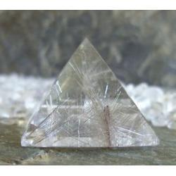 Piramida energetyczna Kwarc rutylowy 100% naturalny -  tylko 1 sztuka - 35 x 35 x 29 mm
