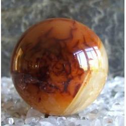 Karneol kula 43 mm 100% naturalny -  tylko 1 sztuka - piękna, magiczna i naenergetyzowana