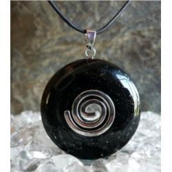 SPRZEDANY - ZAMOW PODOBNY Wisior Talizman Czarny Turmalin Schörl  - 100% naturalny -  tylko 1 sztuka - piękna, magiczna i naenergetyzowana