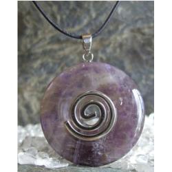 Wisior Talizman Ametyst, celtycka spirala magiczna  - 100% naturalny -  tylko 1 sztuka - piękna, magiczna i naenergetyzowana