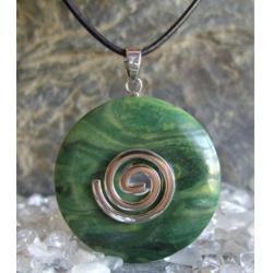 Wisior Talizman Prasem, celtycka spirala magiczna  - 100% naturalny -  tylko 1 sztuka - piękna, magiczna i naenergetyzowana