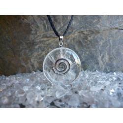 Sprzedany mozesz zamowic podobny - Wisior KRYSZTAL GORSKI, celtycka spirala magiczna  - 100% naturalny -  tylko 1 sztuka - piękna, magiczna i naenergetyzowana