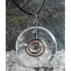 Wisior KRYSZTAL GORSKI, celtycka spirala magiczna  - 100% naturalny -  tylko 1 sztuka - piękna, magiczna i naenergetyzowana