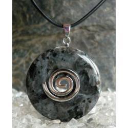 Sprzedany mozesz zamowic podobny -Wisior LARVIKIT 40 mm, celtycka spirala magiczna  - 100% naturalny -  tylko 1 sztuka - piękna, magiczna i naenergetyzowana