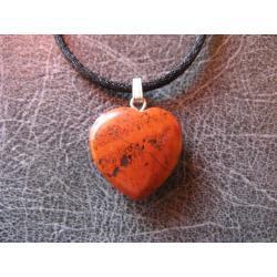 Sprzedany mozesz zamowic podobny - Wisior serce z jaspisu czerwonego - 100% naturalny -  tylko 1 sztuka - piękna, magiczna i naenergetyzowana
