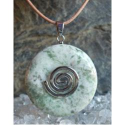 Sprzedany - mozesz zamowic podobny - Wisior AGAT drzewny, celtycka spirala magiczna  - 100% naturalny -  tylko 1 sztuka - piękna, magiczna i naenergetyzowana