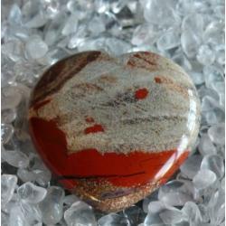 Jaspis czerwony serce 42 x 40 x 13 mm - 100% naturalny -  tylko 1 sztuka - piękna, magiczna i naenergetyzowana