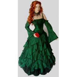 Suknia do praktyk magicznych  rozmiar: 38-40 - zielona