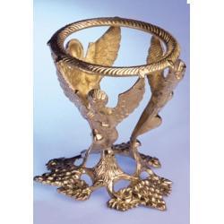 Podstawa stojak pod krysztalowa kule MOSIADZ - Anioly - tylko na kule o srednicy wiekszej niz 9 cm