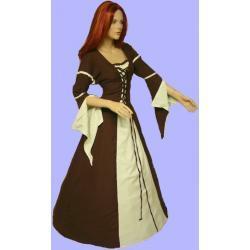 Suknia magiczna średniowieczna Ermina - w rozmiarze 34 do 46 - kolory natury